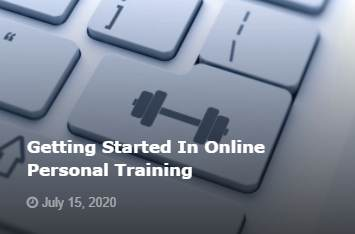 Getting started in online personal training